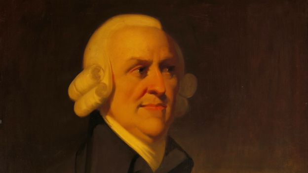 Retrato de Adam Smith