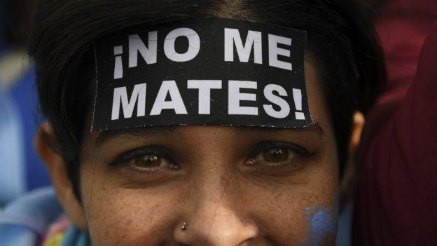 Protesta contra el aborto en Argentina