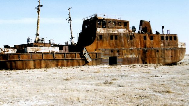 بحر آرال الذي جف تماما