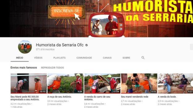c03a17aca4f Página no YouTube do grupo Humorista da Serraria Ofc