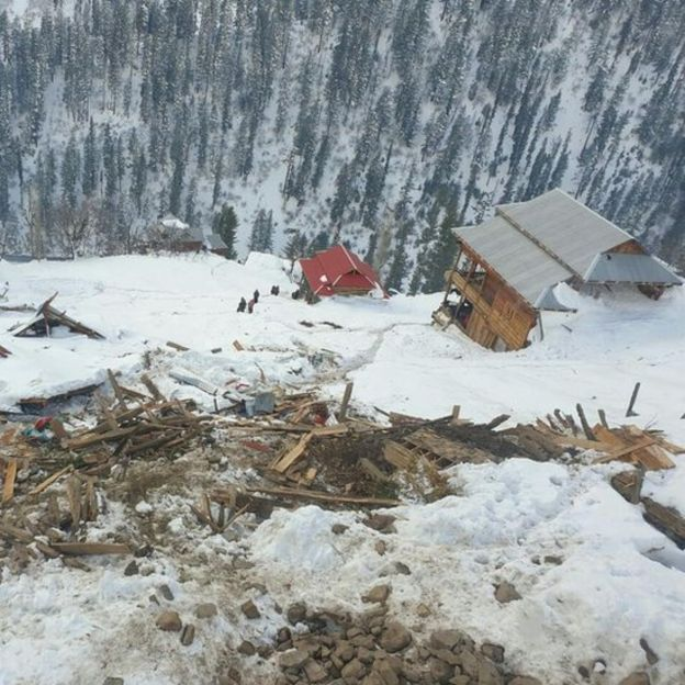 Shakila Amjad's house after the avalanche
