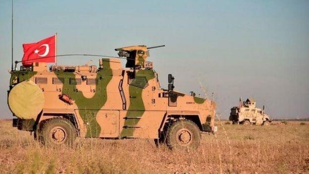 Türkiye ile ABD askerleri, sınırın Suriye tarafında ortak kara devriyesi yaptı