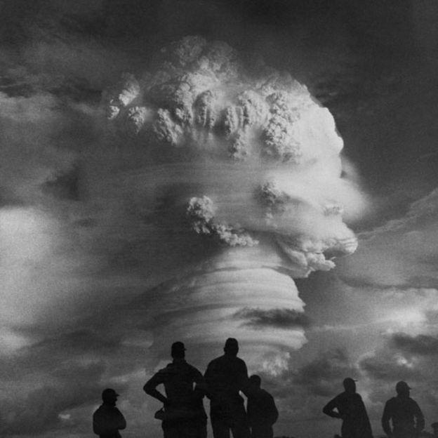 Explosión nuclear en las Islas Marshall