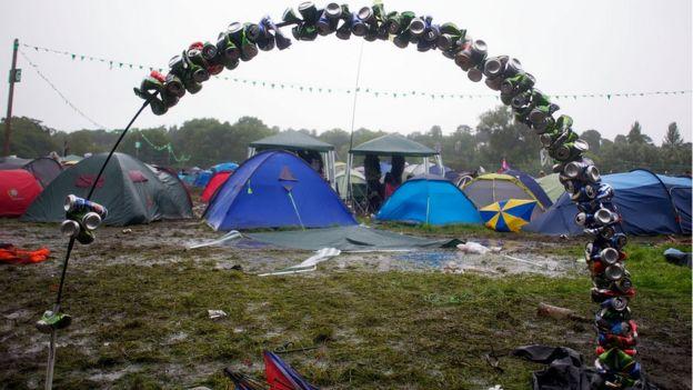 Tents at a festival