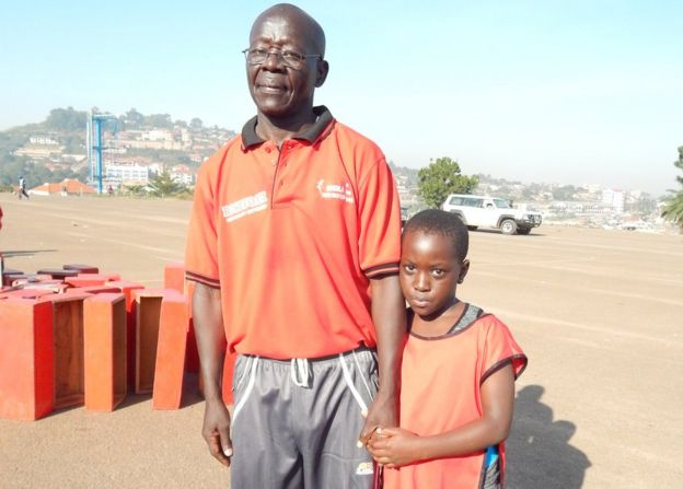 Sabiti Matovu and his daughter