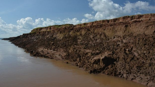 Mekong river bank