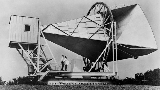 La antena Holmdel Horn que usaron Penzias y Wilson