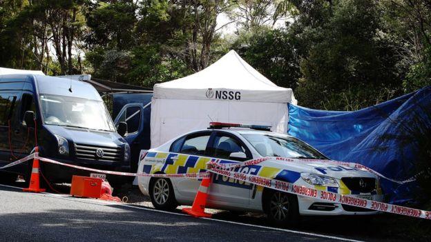 La escena donde se encontró el cuerpo de la turista británica Grace Millane, en un área boscosa de Waitakere Ranges, al oeste de Auckland