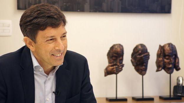O engenheiro e economista João Amoêdo em entrevista à BBC