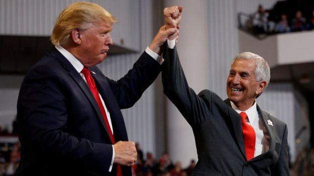 Republican gubernatorial candidate Eddie Rispone and U.S. President Donald Trump