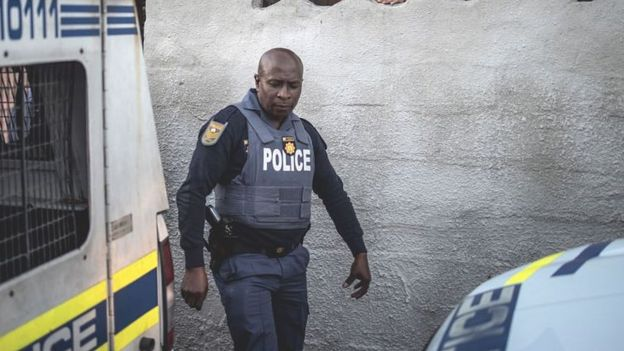 Police raid in Cape Town