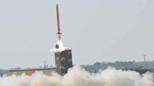 Испытание крылатой ракеты меньшего радиуса в Пакистане в 2016 году