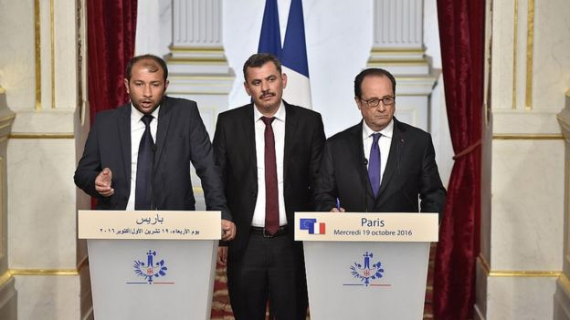 Раед аль-Салех, Франсуа Олланд