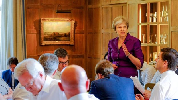 Theresa May at Chequers