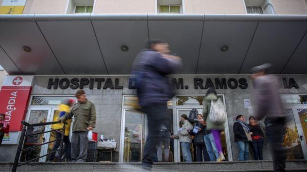 Hospital argentino, em foto de arquivo