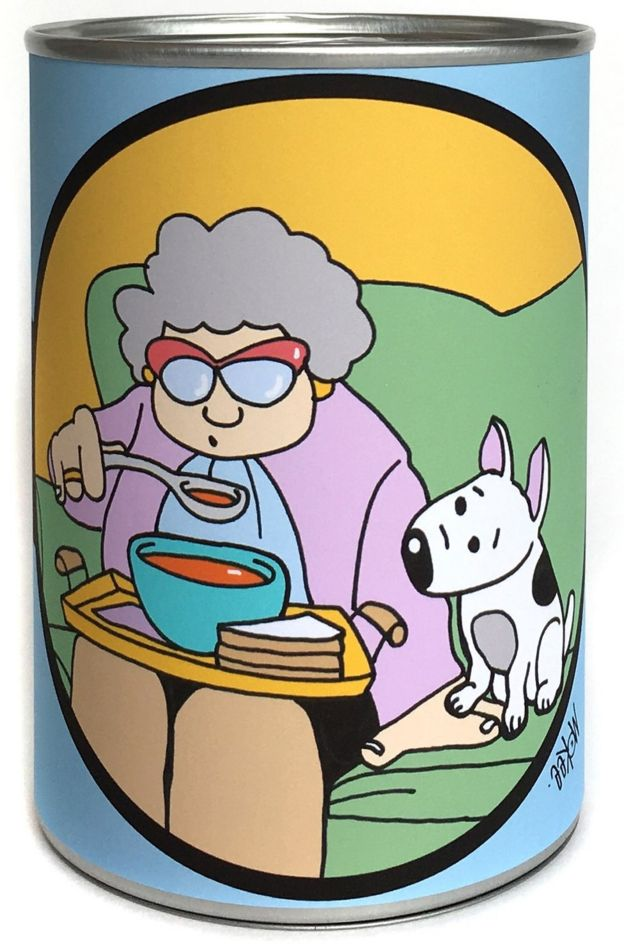 Pete McKee's soup can