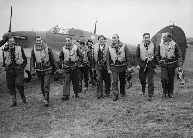 Members of 303 Squadron in October 1940