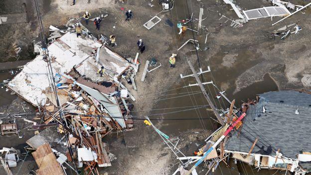 Daños a construcciones en la costa este de Estados Unidos causados por el huracán Sandy