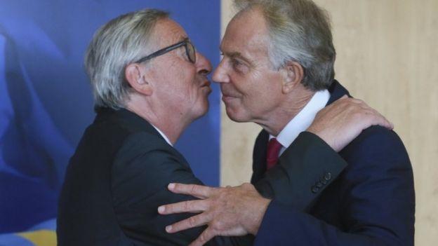 Jean-Claude Juncker and Tony Blair