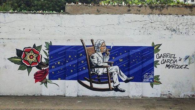 Gabriel Garcia Marquez duvar resmi