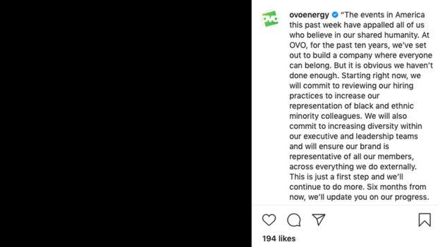 Ovo Energy's Instagram post