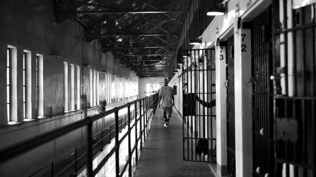 Interior de la cárcel de San Quintín, en California