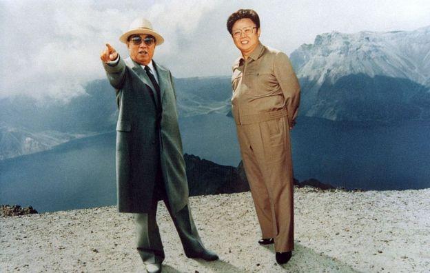 Kim Il Sung e Kim Jong Il