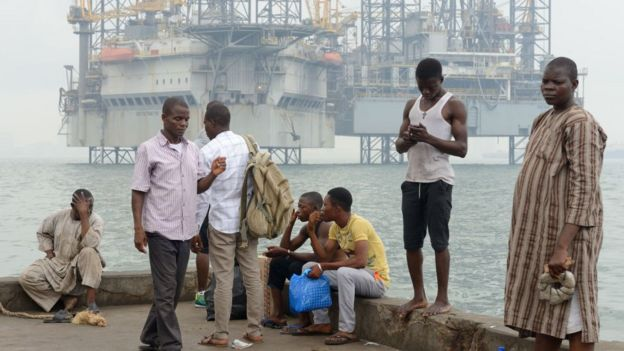Oil facilities in Lagos harbour