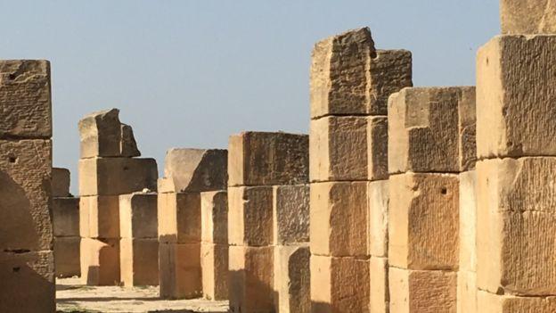 Roman ruins at Oudna