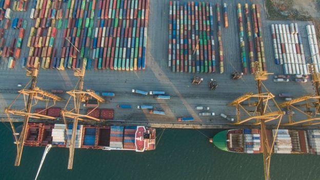 Un puerto de carga