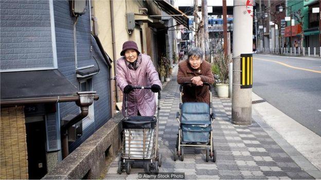 Idosas no Japão