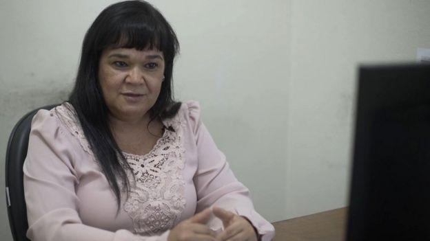 Diretora de saúde Eliane Souza