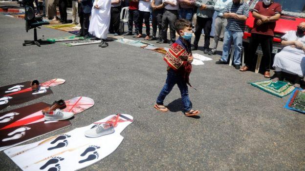 حانب من مظاهرات رافضة للاتفاق الإماراتي الإسرائيلي