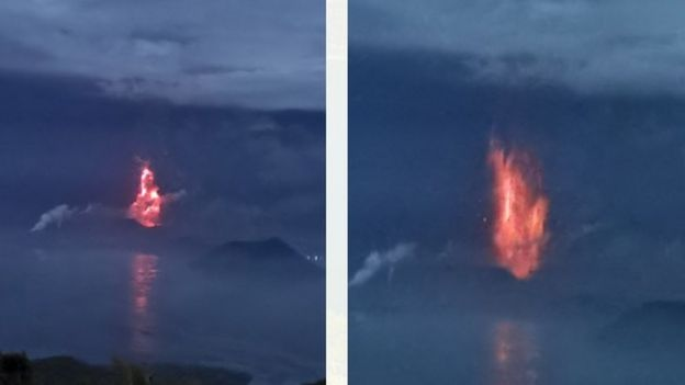 Taal volcano: Lava spews as 'hazardous eruption' feared