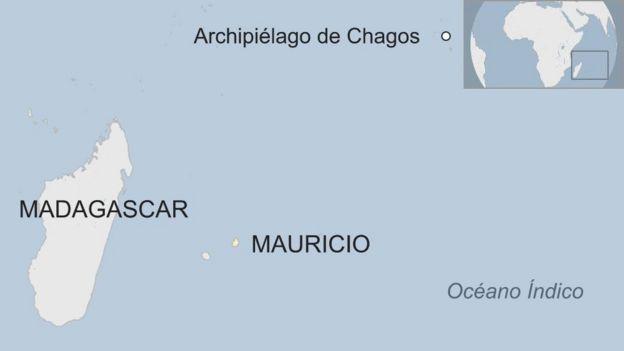 Ubicación de las Islas Chagos.