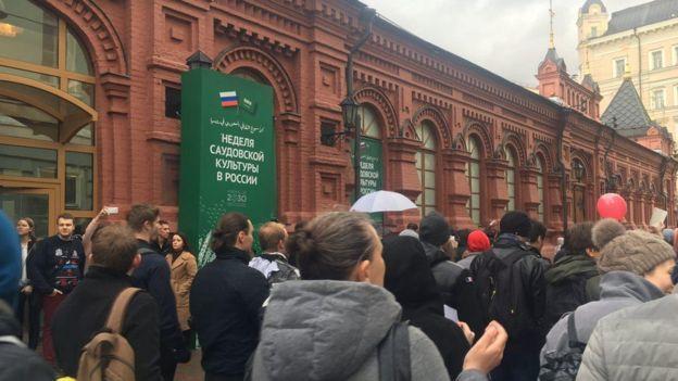 Георгиевский переулок, митинг