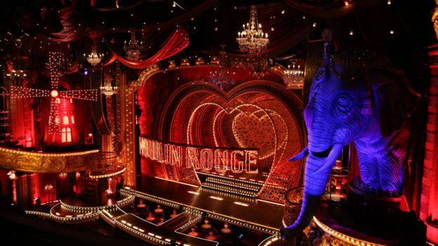 Moulin Rouge musical is 'mostly delicious' on Broadway - BBC