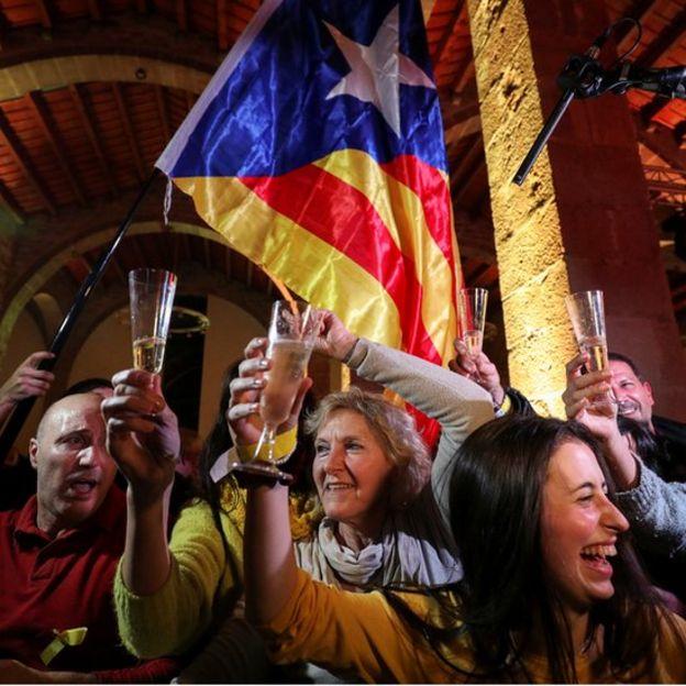 Celebración de los resultados electorales.