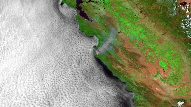 The Soberanes Fire seen from space
