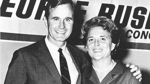 جرج و باربارا بوش در دهه ۱۹۶۰