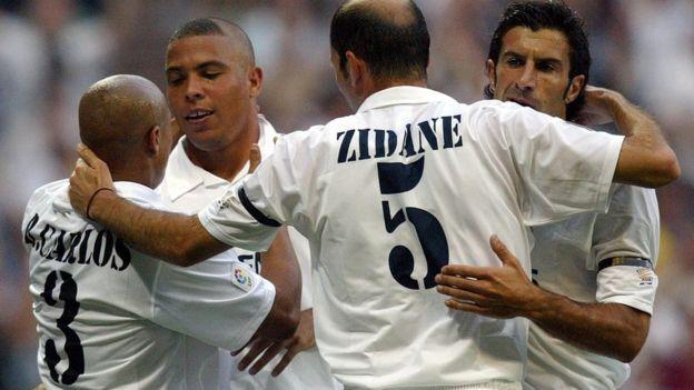 Roberto Carlos, Ronaldo, Zidane y Figo