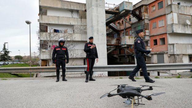 İtalya'da dronelar devrede.