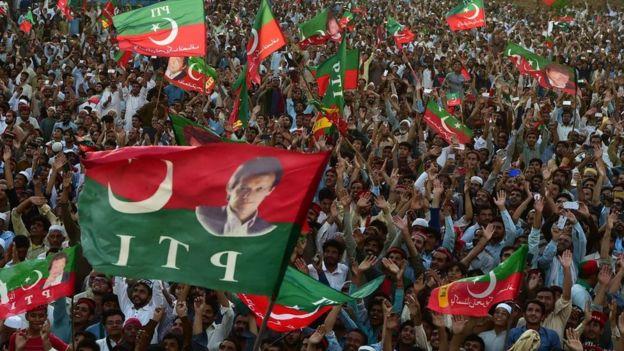 Un mitin del PTI