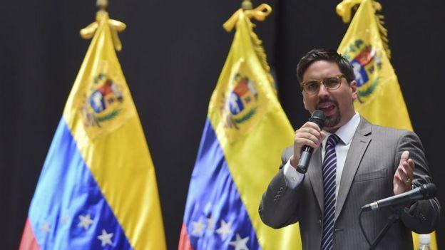 Freddy Guevara era el líder de Voluntad Popular en la Asamblea Nacional pero ahora se encuentra asilado en la embajada de Chile.