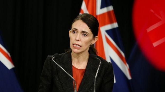 La primera ministra de Nueva Zelanda, Jacinda Ardern,