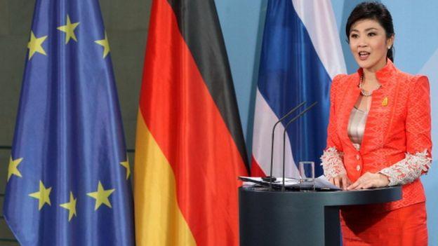 น.ส.ยิ่งลักษณ์ ชินวัตร นายกรัฐมนตรีในขณะนั้นกล่าวในการแถลงข่าวระหว่างการเยือนกรุงเบอร์ลินของเยอรมนี เมื่อวันที่ 18 ก.ค. 2555