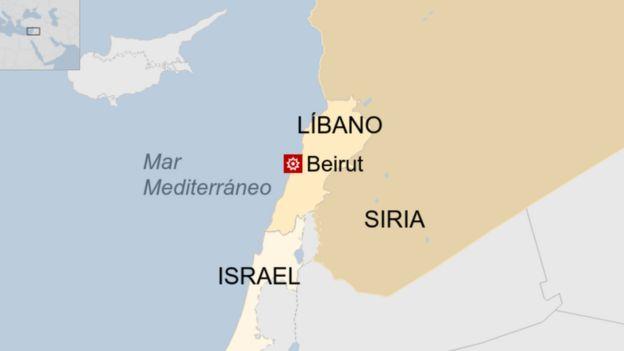 Mapa Beirut