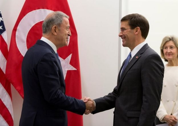 Milli Savunma Bakanı Hulusi Akar ve ABD Savunma Bakanı Mark Esper