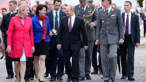 Путін в Австрії