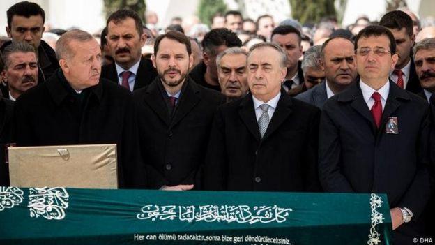 İstanbul Ticaret Odası eski başkanlarından Atalay Şahinoğlu'nun cenaze töreni
